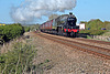 Stanier LMS class 6P Jubilee 45699 GALATEA running as 45562 ALBERTA at Pasture Lane,Seamer with 1Z27 16.41 Scarbotough - Carnforth The Scarborough Spa Express 27th May 2021. ( steam as far as York)