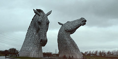 The Kelpie Horses, Grangemouth Scotland 30th December 2018