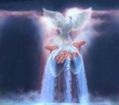 Ĉio ajn, kion la Patro havas, estas Mia; la Spirito ricevos de Mi mian mesaĝon, kaj tion Li anoncos al vi
