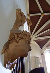 Detail in Entrance Hall within the remaining wing of Ilam Hall, Staffordshire