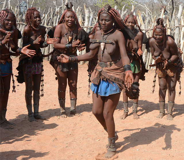 Namibia, Himba Traditional Female Dance