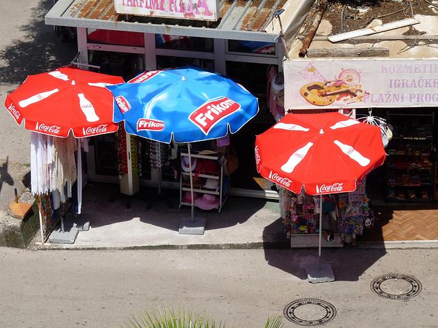 Igalo- Umbrellas