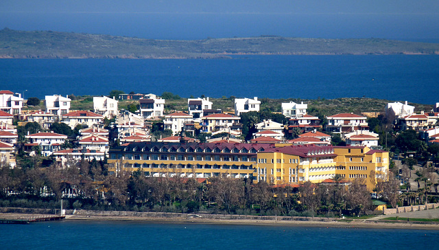 Ayvalik- Looking Towards the Halic Park Hotel