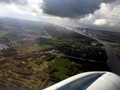 Approaching London City Airport