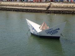 Like a paper boat...