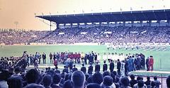 Colombes (92)  20 juin 1971. Stade Yves du Manoir. Finale de la Coupe de France de football, Rennes-Lyon.  (Diapositive numérisée).