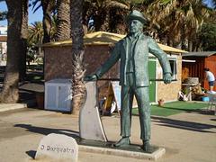 Boatman statue.