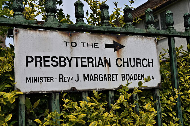 To the Presbyterian Church
