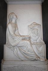 Detail of Thomas Woodyatt Memorial, Malvern Priory, Great Malvern, Worcestershire