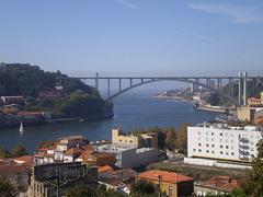 A view to Douro River and the 1963 Arrábida Bridge.