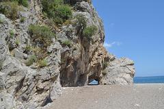 Olympos, Path to the Beach through The Rock