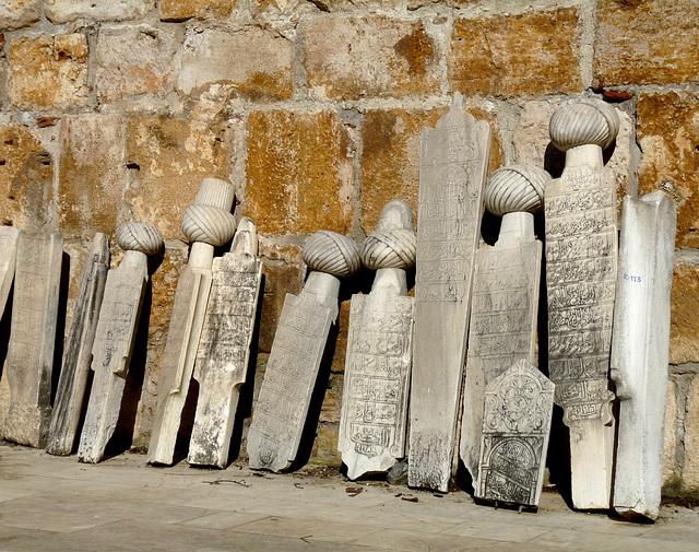 Selcuk- Old Tombstones at the Isabey Mosque