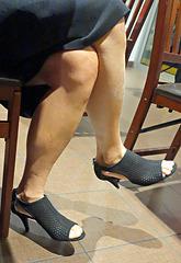 cross legs with style co heels