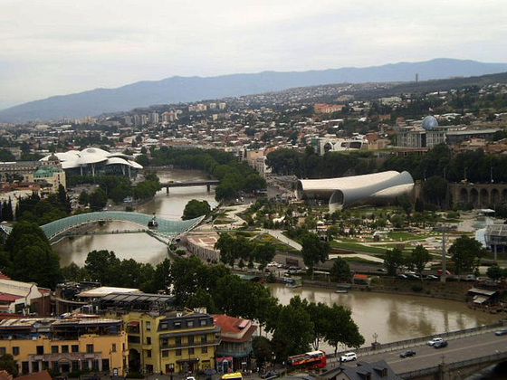 View over Tbilisi.