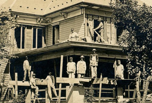 Raise High the Roof Beam, Carpenters! (Detail Left)