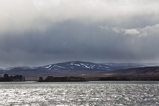 Storm over Lochindorb