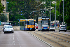 Leipzig 2017 – Plagwitz – LVB 2146 and 1113 passing each other