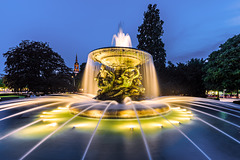 Blue Hour Fountain