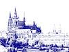 Blick zum Veitsdom auf der Prager Burg