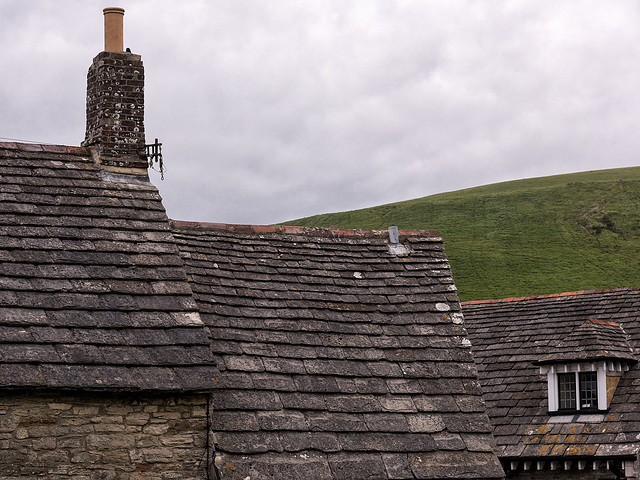 Corfe - Roofs and East Hill