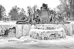 Ludwigslust, eingefrorene Flussgötter