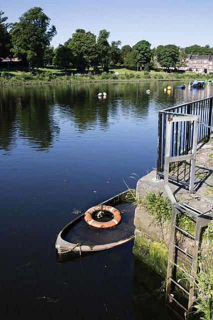 Sunken Rowing Boat, River Leven, Dumbarton