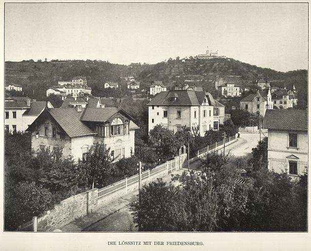 Album von Dresden: Lössnitz mit Friedensburg