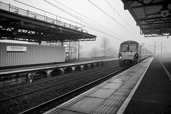 Helensburgh Train approaching Platform 2, Dumbarton Central Station