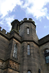 Detail of remaining wing of Ilam Hall, Staffordshire