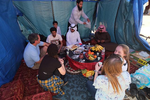 An Arab tent