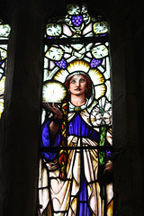 Detail of Stained Glass, St Mary and St Michael's Church, Great Urswick, Cumbria