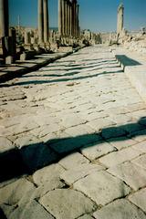 Ancient wheel tracks on Cardus Maximus.