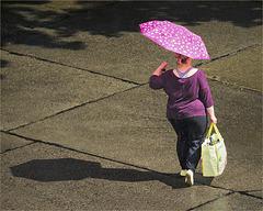 Sunny Pink Rain Girl