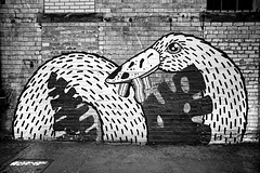 Swan (or is it a Goose?) Mural