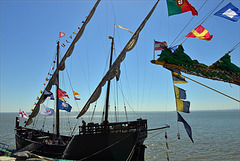 Lisboa, Tall ships race, limpeza à moda portuguesa, Caravela Vera Cruz