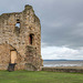 Flint Castle keep, The castle was on the bank of the River Dee.