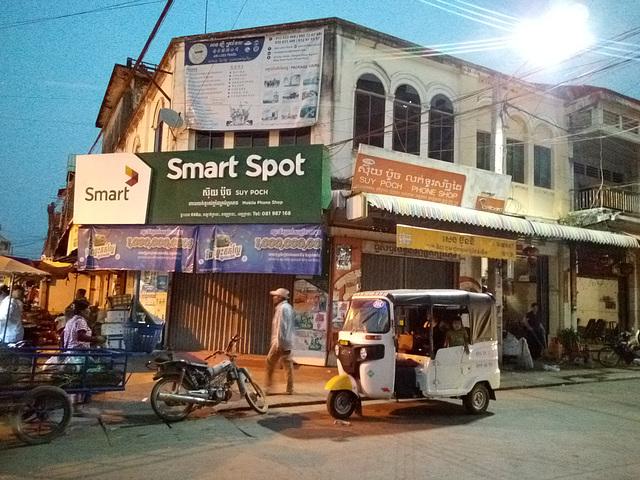 Cambodian tuk-tuk at a smart spot
