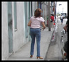 Viva Cuba ! High bum high-heeled Lady in jeans