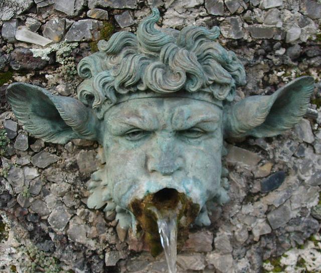 Masque de Satyre, Villa Grabau, Lucca (Tuscany)