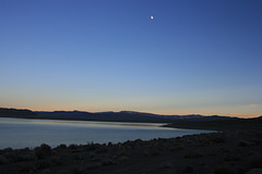 The Moon and Pyramid Lake