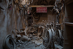 Abandoned bicycle workshop