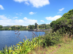 Beside Karapiro Dam