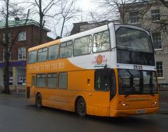 DSCF5828 Sanders Coaches 107 (PM03 EHR) in Norwich - 11 Jan 2019