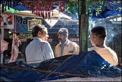 Sur la marché de Munnar