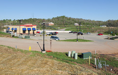 Scenic overlook of Burger King near Parkersburg, West Virginia, on a sunny morning in April 2015.