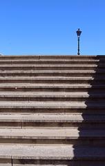 staircase to streetlamp