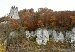 Kalkfelsen im Naturpark Obere Donau
