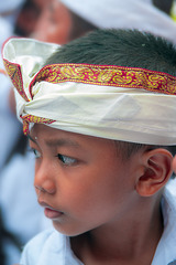 Young worshipper at the Pengrebongan festival