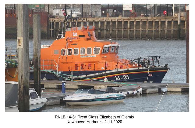 RNLB 14-31 Elizabeth of Glamis Newhaven 2 11 2020