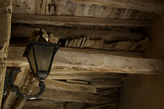 Gloomy passage with lamp